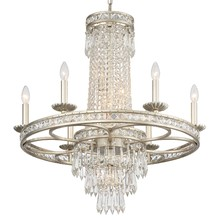 Crystorama 5266-OS-CL-MWP - Crystorama Mercer 10 Light Crystal Silver Chandelier
