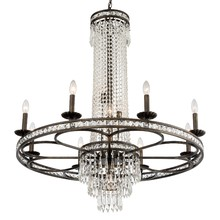 Crystorama 5268-EB-CL-MWP - Crystorama Mercer 12 Light Crystal Bronze Chandelier