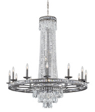 Crystorama 5269-EB-CL-MWP - Crystorama Mercer 16 Light Crystal Bronze Chandelier