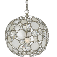 Crystorama 527-SA - Crystorama Palla 1 Light Antique Silver Sphere Mini Chandelier