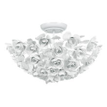 Crystorama 530-WW - Crystorama Cypress 3 Light White Semi-Flush