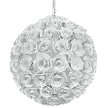 Crystorama 537-WW - Crystorama Cypress 1 Light White Sphere Mini Chandelier