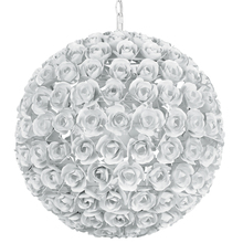 Crystorama 539-WW - Crystorama Cypress 5 Light White Rose Sphere Chandelier