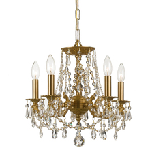 Crystorama 5545-AG-CL-MWP - Crystorama Gramercy 5 Light Clear Crystal Brass Mini Chandelier II