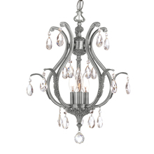 Crystorama 5560-PW-CL-MWP - Crystorama Dawson 3 Light Clear Crystal Pewter Mini Chandelier