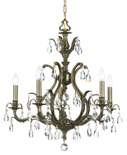 Crystorama 5565-AB-CL-MWP - Crystorama Dawson 5 Light Clear Crystal Brass Chandelier I