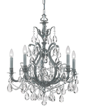 Crystorama 5575-PW-CL-MWP - Crystorama Dawson 5 Light Clear Crystal Pewter Chandelier II