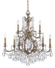 Crystorama 5579-AB-CL-MWP - Crystorama Dawson 9 Light Clear Crystal Brass Chandelier II