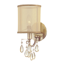 Crystorama 5621-AB - Crystorama Hampton 1 Light Brass Sconce
