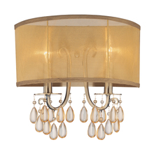 Crystorama 5622-AB - Crystorama Hampton 2 Light Brass Sconce