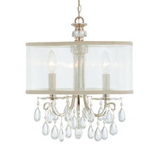 Crystorama 5623-CH - Crystorama Hampton 3 Light Chrome Clear Crystal Drum Shade Chandelier