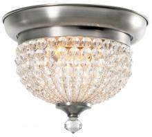 Crystorama 6742-AP - Crystorama Newbury 2 Light Pewter Flush Mount
