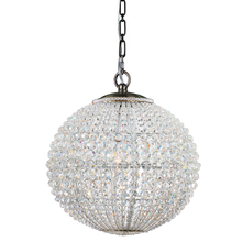 Crystorama 6754-AB - Crystorama Newbury 1 Light Crystal Sphere Brass Mini Chandelier II