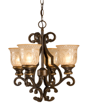 Crystorama 7404-BU - Crystorama Norwalk 4 Light Bronze Mini Chandelier