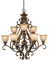 Crystorama 7409-BU - Crystorama Norwalk 9 Light Bronze Umber Chandelier