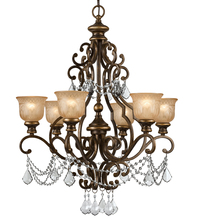 Crystorama 7516-BU-CL-I - Crystorama Norwalk 6 Light Clear Italian Crystal Chandelier