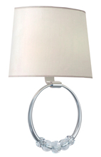 Crystorama 8001-PN - Crystorama Mirage 2 Light Polished Nickel Sconce
