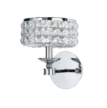 Crystorama 801-CH-CL-MWP - Crystorama Chelsea 1 Light Chrome Sconce II