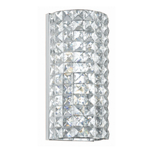 Crystorama 802-CH-CL-MWP - Crystorama Chelsea 2 Light Chrome Sconce