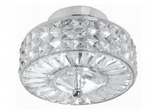 Crystorama 809-CH-CL-MWP - Crystorama Chelsea 3 Light Crystal Semi-Flush