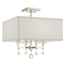 Crystorama 8105-PN_CEILING - Crystorama Paxton 4 Light Nickel Ceiling Mount