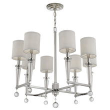 Crystorama 8108-PN - Crystorama Paxton 8 Light Polished Nickel Chandelier