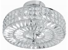 Crystorama 814-CH-CL-MWP - Crystorama Chelsea 4 Light Crystal Semi-Flush