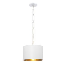 Crystorama 8683-MT-GA - Brian Patrick Flynn for Crystorama Alston 1 Light Matte White Mini Chandelier