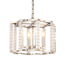 Crystorama 8854-PN - Crystorama Carson Polished Nickel 4 Light Mini Chandelier Convertible