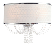 Crystorama 9802-CH - Crystorama Allure 2 Light Polished Chrome Sconce
