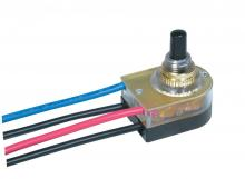 Satco Products Inc. 80/1355 - On-Off Lighted Push Switch, Plastic Bushing, Single Circuit. Rated: 6A-125V, 3A-250V