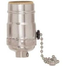 Satco Products Inc. 80/1673 - 3 Position Pull Chain Socket w/Diode Low - Medium - High - Off For Standard A Type Household Bulb