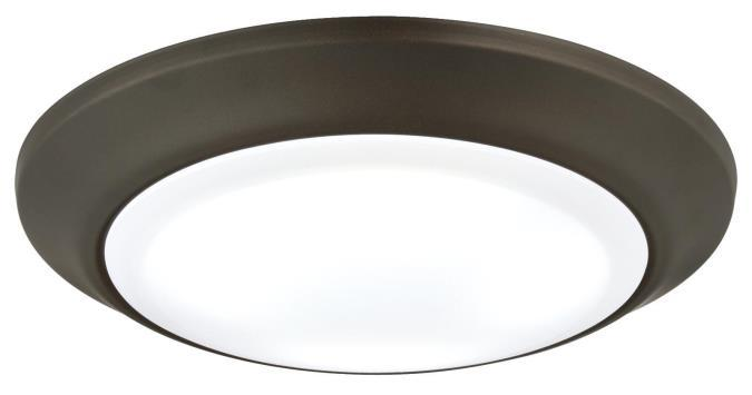 Large LED Surface Mount Oil Rubbed Bronze Finish with Frosted Lens, Dimmable