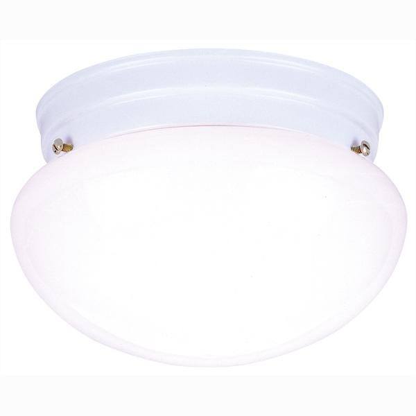 Manteca Lighting in Manteca, California, United States,  A9H0, 2 Light Flush White Finish with White Glass,