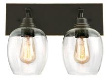 Westinghouse 6333300 - 2 Light Wall Oil Rubbed Bronze Finish with Highlights and Clear Seeded Glass