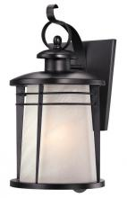 Westinghouse 6674200 - 1 Light Wall Lantern Weathered Bronze Finish with White Alabaster Glass