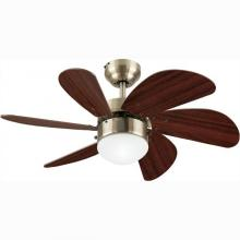 "Westinghouse 7824865 - 30"" Antique Brass Finish Walnut Blades Includes Light Fixture with Opal Frosted Glass"