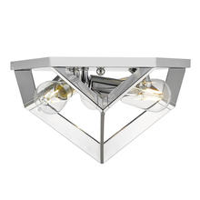 Golden 2083-FM CH - Architect Flush Mount in Chrome