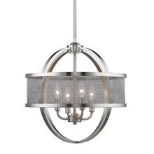 Golden 3167-4P PW-PW - 4 Light Chandelier (with shade)