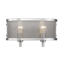 Golden 3167-BA2 PW - 2 Light Bath Vanity (with shade)