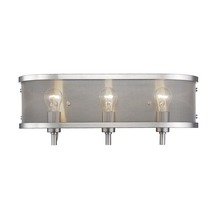 Golden 3167-BA3 PW - 3 Light Bath Vanity (with shade)
