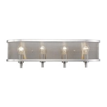 Golden 3167-BA4 PW - 4 Light Bath Vanity (with shade)