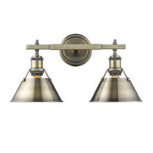Golden 3306-BA2 AB-AB - 2 Light Bath Vanity