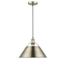 Golden 3306-L AB-AB - 1 Light Pendant - 14""