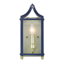 Golden 8401-WSC SB-NVY - Wall Sconce
