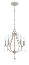 Jeremiah 1015C-ATL - 5 Light Mini Chandelier in Antique Linen