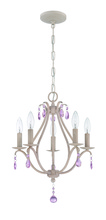 Jeremiah 1015P-ATL - 5 Light Mini Chandelier in Antique Linen