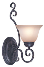 Jeremiah 22031-FM - Sheridan 1 Light Wall Sconce in Forged Metal