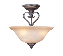 Jeremiah 22033-FM - Sheridan 3 Light Semi Flush in Forged Metal