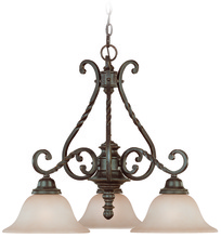 Jeremiah 22433-ET - Sutherland 3 Light Down Chandelier in English Toffee